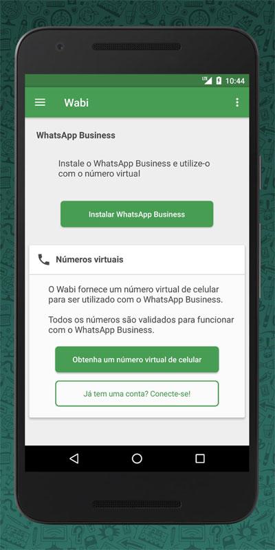 Wabi – Número Virtual para o WhatsApp
